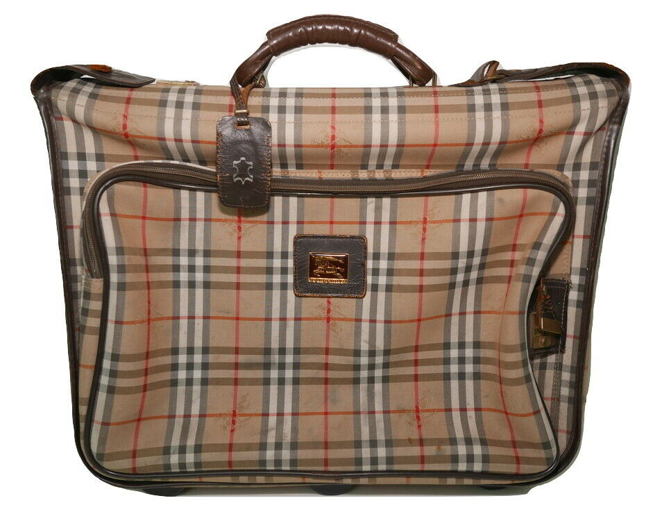 £1450 BURBERRY VINTAGE CLASSIC RARE NOVA CHECK SUIT CARRIER DESIGNER GARMENT BAG - 109.51,Kaufpreis 109,51,datum 22.10.2020 08:50:19,Website
