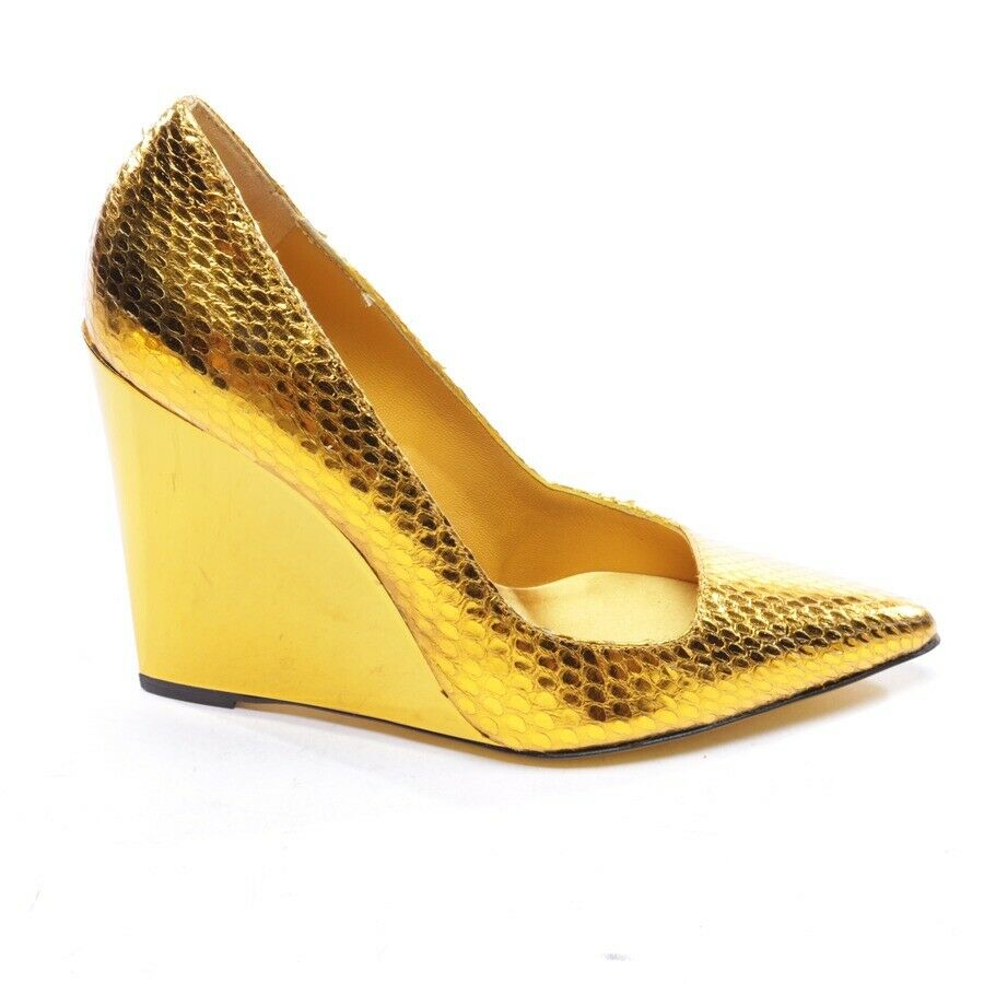 BURBERRY PRORSUM Wedges Gr. EUR 37 Gold Damen Schuhe High Heels Shoes - 201.95,Kaufpreis 201,95,datum 24.08.2020 17:49:48,Website dhd24.com